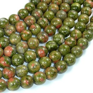 Unakite Beads, 10mm Round Beads, 15.5 Inch, Full Strand, Approx 39 Beads, Hole 1 Mm, A Quality (429054005)