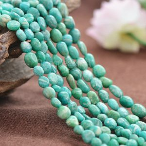 Natural Genuine Amazonite Gemstone Irregular Pebble Nuggets Beads Supplies (jy14)