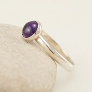 Amethyst Ring- Sterling Silver Ring- Purple Stone Ring- February Birthstone Ring- Handmade Silver Jewelry Amethyst | Natural genuine Array jewelry. Buy crystal jewelry, handmade handcrafted artisan jewelry for women.  Unique handmade gift ideas. #jewelry #beadedjewelry #beadedjewelry #gift #shopping #handmadejewelry #fashion #style #product #jewelry #affiliate #ad