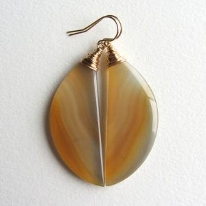 Banded Agate Earrings With Gold Filled