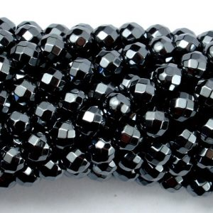Shop Hematite Beads! Hematite, 6mm Faceted Round Beads, 15.5 Inch, Full strand, Approx 70 beads, Hole 1mm, A quality (269025002) | Natural genuine beads Hematite beads for beading and jewelry making.  #jewelry #beads #beadedjewelry #diyjewelry #jewelrymaking #beadstore #beading #affiliate
