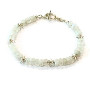 Shop Moonstone Bracelets! Rainbow Moonstone Bracelet – Sterling Silver Jewelry – Iridescent Gemstone Jewellery – Everyday Minimal Beaded | Natural genuine Moonstone bracelets. Buy crystal jewelry, handmade handcrafted artisan jewelry for women.  Unique handmade gift ideas. #jewelry #beadedbracelets #beadedjewelry #gift #shopping #handmadejewelry #fashion #style #product #bracelets #affiliate #ad