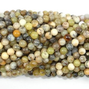 Shop Opal Round Beads! Dendritic Opal Beads, Moss Opal, 4mm Round Beads, 16 Inch, Full strand, Approx 98 beads, Hole 0.6 mm, A quality (441054004) | Natural genuine round Opal beads for beading and jewelry making.  #jewelry #beads #beadedjewelry #diyjewelry #jewelrymaking #beadstore #beading #affiliate #ad