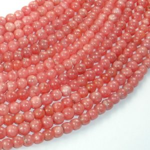 Shop Rhodochrosite Round Beads! Rhodochrosite Beads, 5mm (5.5mm) Round Beads, 15.5 Inch, Full strand, Approx 78-88 beads, Hole 0.6 mm, A+ quality (385054014) | Natural genuine round Rhodochrosite beads for beading and jewelry making.  #jewelry #beads #beadedjewelry #diyjewelry #jewelrymaking #beadstore #beading #affiliate #ad