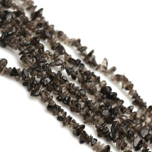 Brown Stone Chips, Genuine Smoky Quartz Chip Beads For Jewelry Making, Irregular Rough Crystal Quartz Beads, 34 Inch Full Strand