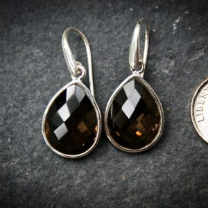 Shop Smoky Quartz Earrings! Smoky Quartz Dangle Earrings, Smoky Quartz, Stunning Smoky Quartz Checkerboard Smoky Quartz earrings – Smoky Quartz Dangle Earrings – Dangle | Natural genuine Smoky Quartz earrings. Buy crystal jewelry, handmade handcrafted artisan jewelry for women.  Unique handmade gift ideas. #jewelry #beadedearrings #beadedjewelry #gift #shopping #handmadejewelry #fashion #style #product #earrings #affiliate #ad