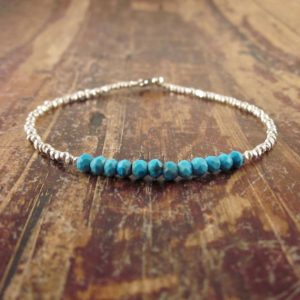 Turquoise Bracelet Turquoise Jewelry Turquoise Bead Bracelet Turquoise Beaded Bracelet Womens Gift for Her December Birthstone Bracelet Gift | Natural genuine Turquoise bracelets. Buy crystal jewelry, handmade handcrafted artisan jewelry for women.  Unique handmade gift ideas. #jewelry #beadedbracelets #beadedjewelry #gift #shopping #handmadejewelry #fashion #style #product #bracelets #affiliate #ad