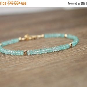 Apatite Bracelet, Apatite Jewelry, Gold Filled Or Sterling Silver Beads. Gemstone Bracelet