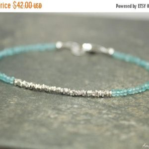 Shop Apatite Bracelets! Skinny Apatite & Hill Tribe Stick Bracelet, Apatite Jewelry, Minimalist, Gemstone Jewelry | Natural genuine Apatite bracelets. Buy crystal jewelry, handmade handcrafted artisan jewelry for women.  Unique handmade gift ideas. #jewelry #beadedbracelets #beadedjewelry #gift #shopping #handmadejewelry #fashion #style #product #bracelets #affiliate #ad