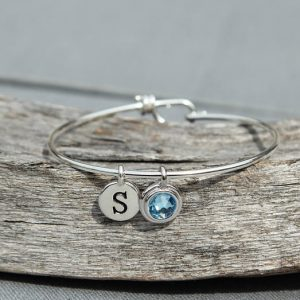 Shop Aquamarine Bracelets! Personalized Grandmother Gift, Initial Birthstone Bracelet for Mom, Bracelet Initials, Bracelet Silver, March Birthstone Jewelry, Aquamarine | Natural genuine Aquamarine bracelets. Buy crystal jewelry, handmade handcrafted artisan jewelry for women.  Unique handmade gift ideas. #jewelry #beadedbracelets #beadedjewelry #gift #shopping #handmadejewelry #fashion #style #product #bracelets #affiliate #ad