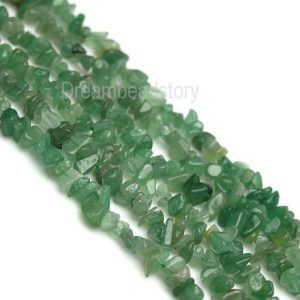 Green Aventurine Chips, Natural Aventurine Chip Beads, Green Gemstone Chips Strand, Beading Supplies For Making Jewelry