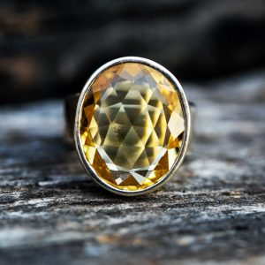 Citrine Ring 7 – Citrine Ring – Citrine  Ring Size 7 – November Birthstone- Citrine Ring – Beautiful Citrine Sterling Silver Ring – Citrine