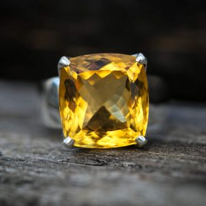 Citrine Ring Size 8.5 – Citrine Ring –  Citrine Ring Size 8.5 – November Birthstone – Citrine – Beautiful Citrine Sterling Silver Ring 8.5