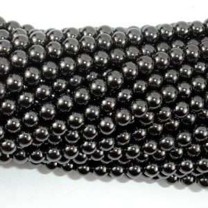 Shop Hematite Round Beads! Magnetic Hematite Beads, Round, 4mm, 16 Inch, Full strand, Approx 104 beads, Hole 1 mm, A quality (269054006) | Natural genuine round Hematite beads for beading and jewelry making.  #jewelry #beads #beadedjewelry #diyjewelry #jewelrymaking #beadstore #beading #affiliate #ad
