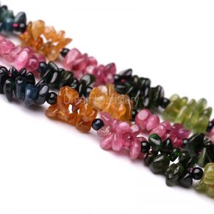 High Quality Tourmaline Chips, Natural Irregular Tourmaline Gemstone Chip Beads, Full Strand 15 Inch Multi Color Gemstone Beads Supplies