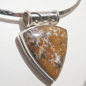 Shop Jasper Pendants! STONE CANYON JASPER Pendant, Brecciated Jasper, Mined in California, Beautiful Earth Tones, Sterling Silver | Natural genuine Jasper pendants. Buy crystal jewelry, handmade handcrafted artisan jewelry for women.  Unique handmade gift ideas. #jewelry #beadedpendants #beadedjewelry #gift #shopping #handmadejewelry #fashion #style #product #pendants #affiliate #ad