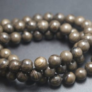 Shop Jasper Beads! 8mm Coffee Jasper Beads,Smooth and Round Stone Beads,15 inches one starand | Natural genuine beads Jasper beads for beading and jewelry making.  #jewelry #beads #beadedjewelry #diyjewelry #jewelrymaking #beadstore #beading #affiliate #ad