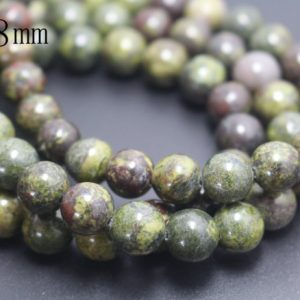 6mm/8mm/10mm/12mm Dragon Blood Jasper Beads,Smooth and Round Stone Beads,15 inches one starand