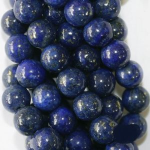 "Shop Lapis Lazuli Round Beads! Lapis Lazuli Beads – Round 6 mm Gemstone Beads – Full Strand 16"", 63 beads, A+ Quality 