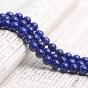 Royal Blue Lapis Beads, Round Natural Lapis Lazuli Gemstone Beads, 4 6 8 10 12mm Aa Genuine Not Dyed Lapis Beads For Jewelry Making (b147)