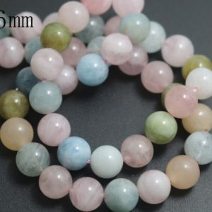 6mm Morganite Stone Beads,Natural Smooth and Round Morganite Beads,15 inches one starand
