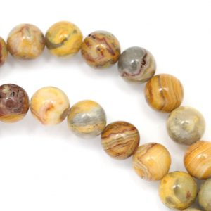 Old Crazy Lace Agate Beads – 8mm Round