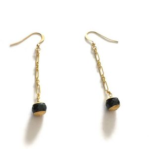 Shop Onyx Earrings! Black Earrings – Onyx Gemstone Jewelry – Gold Chain Jewellery – Minimalist | Natural genuine Onyx earrings. Buy crystal jewelry, handmade handcrafted artisan jewelry for women.  Unique handmade gift ideas. #jewelry #beadedearrings #beadedjewelry #gift #shopping #handmadejewelry #fashion #style #product #earrings #affiliate #ad