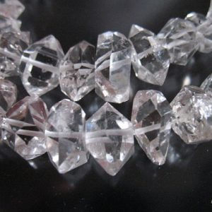 3 Pcs, Herkimer Diamonds Nuggets Clear Quartz Crystal Briolettes, Luxe Aaa, 7-8.5 Mm, Healing Nuggets Rare S