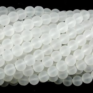 Shop Quartz Crystal Round Beads! Matte Clear Quartz Beads, 6mm (6.3mm) Round Beads, 15.5 Inch, Full strand, Approx 65 beads beads, Hole 1 mm, A quality (198054009) | Natural genuine round Quartz beads for beading and jewelry making.  #jewelry #beads #beadedjewelry #diyjewelry #jewelrymaking #beadstore #beading #affiliate #ad