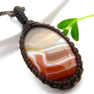 Reserved For Sm,agate Necklace / Agate Stone Neckace / Agate Jewelry / Healing Crystals And Gemstones / Hypoallergenic / Healing Crystal /