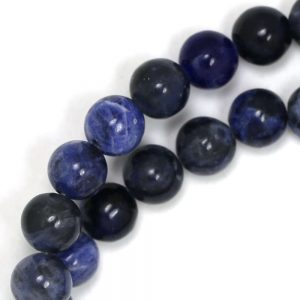 Sodalite Beads (grade A/b) – 8mm Round – Limited Quantity