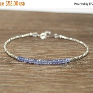 Tanzanite Bracelet, Hill Tribe Silver, Pure Silver, Tanzanite Jewelry, December Birthstone, Gifts For Her