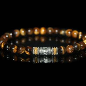 Shop Tiger Eye Jewelry! Men's Bracelet, Bracelet for Men, Tiger's Eye Bracelet, Bead Bracelet Man, Gift for Him, For Men, Beaded Bracelet, Men, Men's Wristband | Natural genuine Tiger Eye jewelry. Buy handcrafted artisan men's jewelry, gifts for men.  Unique handmade mens fashion accessories. #jewelry #beadedjewelry #beadedjewelry #shopping #gift #handmadejewelry #jewelry #affiliate #ad