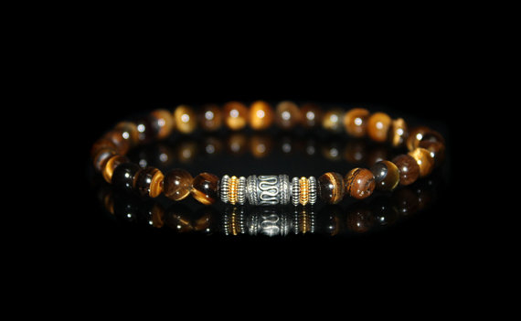 Men's Bracelet, Bracelet For Men, Tiger's Eye Bracelet, Bead Bracelet Man, Gift For Him, For Men, Beaded Bracelet, Men, Men's Wristband