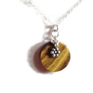 Shop Tiger Eye Necklaces! Tiger Eye Necklace – Sterling Silver Jewelry – Brown Gemstone Jewellery – Pendant – Flower – Fashion | Natural genuine Tiger Eye necklaces. Buy crystal jewelry, handmade handcrafted artisan jewelry for women.  Unique handmade gift ideas. #jewelry #beadednecklaces #beadedjewelry #gift #shopping #handmadejewelry #fashion #style #product #necklaces #affiliate #ad