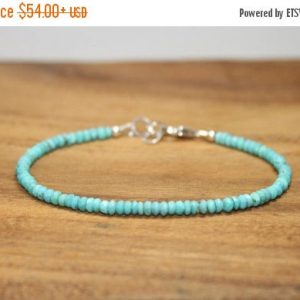 Sleeping Beauty Turquoise Bracelet, Beaded, Stacking, Sleeping Beauty Turquoise Jewelry, December Birthstone, Gemstone Jewelry | Natural genuine Turquoise bracelets. Buy crystal jewelry, handmade handcrafted artisan jewelry for women.  Unique handmade gift ideas. #jewelry #beadedbracelets #beadedjewelry #gift #shopping #handmadejewelry #fashion #style #product #bracelets #affiliate #ad