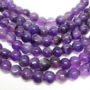"""1 Strand 6mm Amethyst Beads, Wholesale Beads, Natural Beads, Semi Precious Stones, 15 1/2"""" Length, Round Beads, Wholesale Gems"""