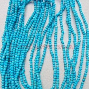 10 Strands, Turquoise Rondelles, 13 Inch Strand, Turquoise Faceted Rondelle Beads, 2 Mm Loose Gemstone Roundel Beads, Finest Quality