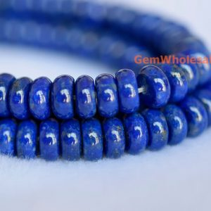 "15.5"" 3mmx6mm Natural Lapis lazuli rondelle beads, high quality genuine Lapis roundel beads, lapis lazuli rondelle beads 
