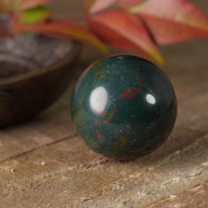 3cm Bloodstone Crystal Sphere – Blood Stone, Heliotrope, Wire Wrap Bloodstone Jewelry, Raw Bloodstone Pendant, Healing Crystal Stone E0269