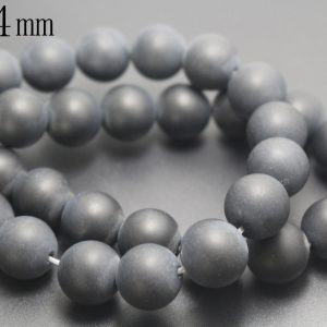 4mm Natural Matte Black Onyx Beads,natural Smooth And Round  Beads,15 Inches One Starand