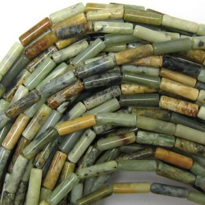 "4x13mm Multicolor Jade Tube Beads 15.5"" Strand 33798"