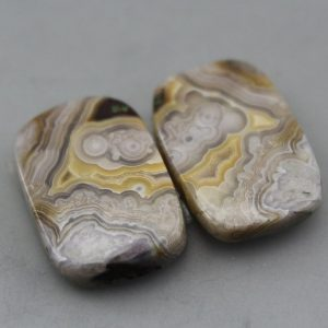Shop Crazy Lace Agate Gemstones! Crazy Lace Agate Matching Pair Cabochons | Natural genuine stones & crystals in various shapes & sizes. Buy raw cut, tumbled, or polished gemstones for making jewelry or crystal healing energy vibration raising reiki stones. #crystals #gemstones #crystalhealing #crystalsandgemstones #energyhealing #affiliate #ad