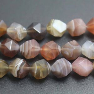 Shop Agate Faceted Beads! 8mm Botswana Agate Faceted Beads, natural Faceted Botswana Agate Beads, 15 Inches One Starand | Natural genuine faceted Agate beads for beading and jewelry making.  #jewelry #beads #beadedjewelry #diyjewelry #jewelrymaking #beadstore #beading #affiliate #ad