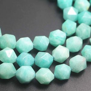 Shop Amazonite Faceted Beads! Natural Faceted Amazonite Beads, natural Amazonite Faceted Beads, 15 Inches One Starand | Natural genuine faceted Amazonite beads for beading and jewelry making.  #jewelry #beads #beadedjewelry #diyjewelry #jewelrymaking #beadstore #beading #affiliate #ad