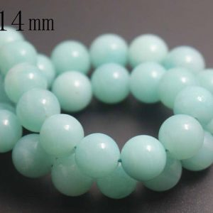 Shop Amazonite Round Beads! 14mm Natural Amazonite Round Beads,Natural Gemstone round beads,15 inches one starand | Natural genuine round Amazonite beads for beading and jewelry making.  #jewelry #beads #beadedjewelry #diyjewelry #jewelrymaking #beadstore #beading #affiliate #ad