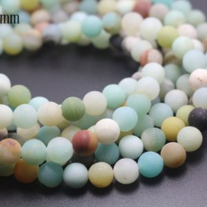 8mm Matte Amazonite Beads,multicolor Matte Amazonite Beads,natural Gemstone Round Beads,15 Inches One Starand