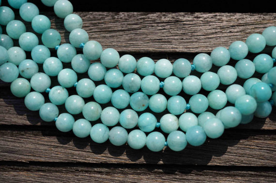Amazonite Round Beads Ab Grade 5-6mm (etb00157) Peruvian Gemstone/unique Jewelry/vintage Jewelry/gemstone Necklace