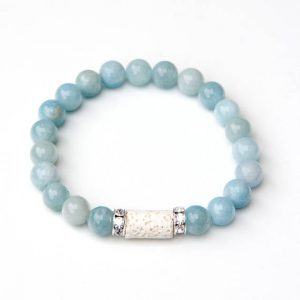 Shop Aquamarine Bracelets! Aquamarine bracelet – March birthstone | Natural genuine Aquamarine bracelets. Buy crystal jewelry, handmade handcrafted artisan jewelry for women.  Unique handmade gift ideas. #jewelry #beadedbracelets #beadedjewelry #gift #shopping #handmadejewelry #fashion #style #product #bracelets #affiliate #ad