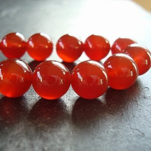 Shop Carnelian Beads! Carnelian Round Beads 10mm Natural Carrot Pumpkin Orange – 12 Pieces | Natural genuine beads Carnelian beads for beading and jewelry making.  #jewelry #beads #beadedjewelry #diyjewelry #jewelrymaking #beadstore #beading #affiliate #ad